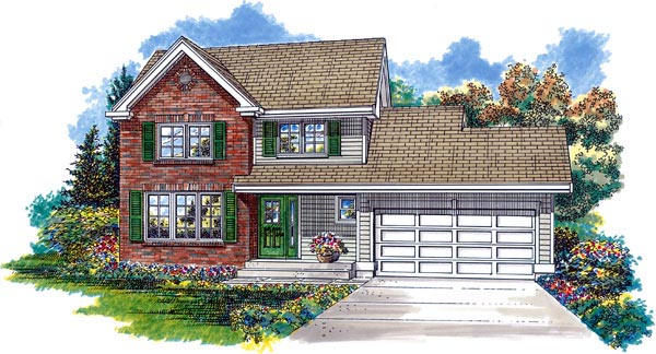 Traditional House Plan 55364 Elevation