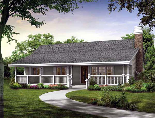 Country House Plan 55373 Elevation