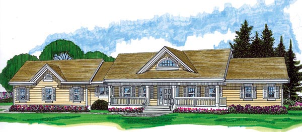 Country House Plan 55397 Elevation
