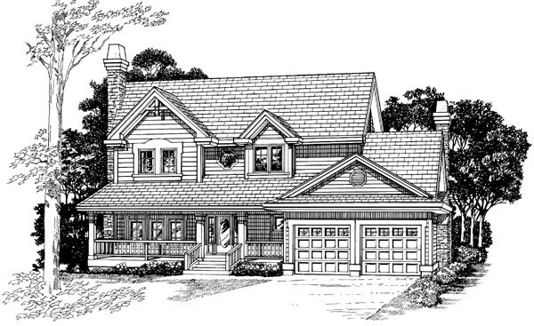Country House Plan 55405 Elevation