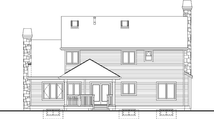 Country House Plan 55405 Rear Elevation
