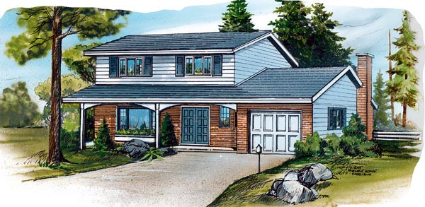 Traditional House Plan 55415 Elevation