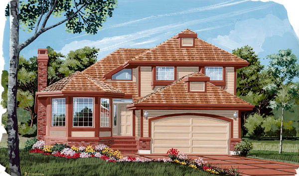 Contemporary House Plan 55457 Elevation