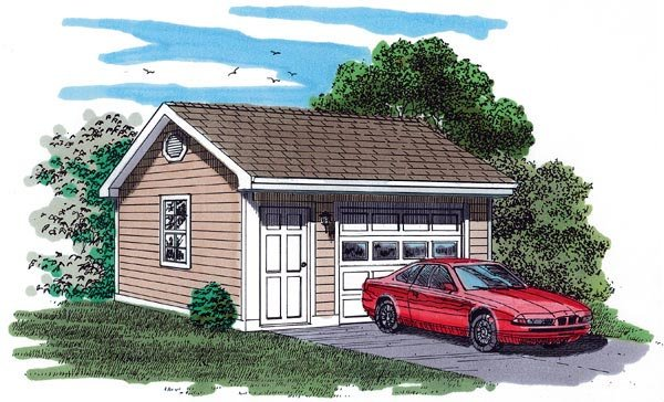 Traditional Garage Plan 55531 Elevation