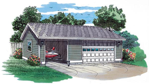 Traditional Garage Plan 55533