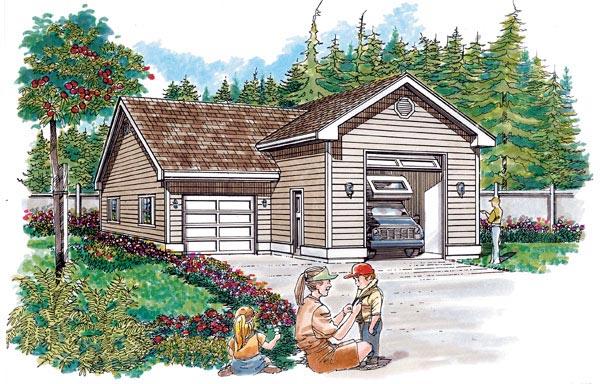 Traditional Garage Plan 55536 Elevation