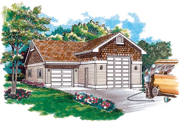 Garage plan 55537 at for 30x36 garage plans