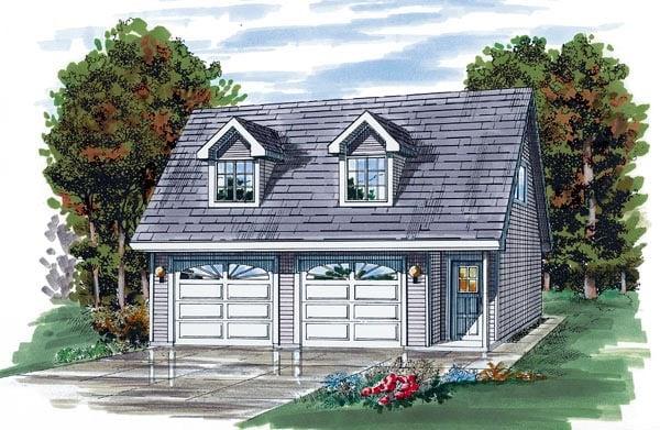 Garage plan 55541 at for Cape cod garage