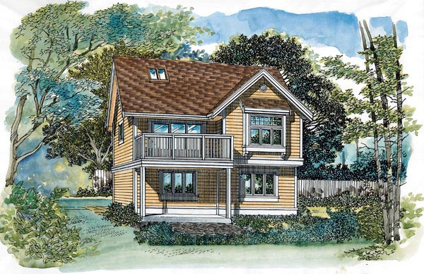 Traditional Garage Plan 55549