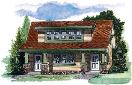 Craftsman Elevation of Plan 55553
