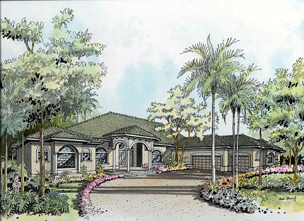 OneStory House Plan 55738