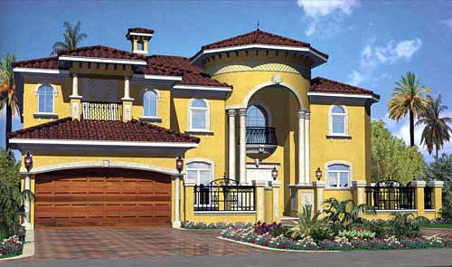Home Front Elevation Colour : House plan at familyhomeplans