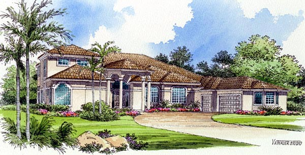 House Plan 55784 Elevation