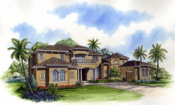 Mediterranean House Plan 55785 Elevation