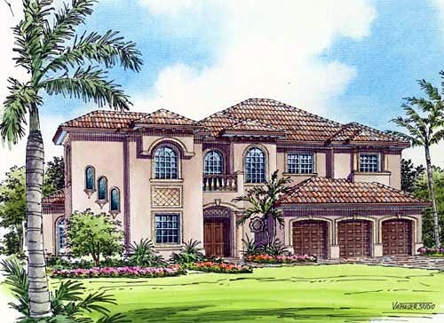 Mediterranean House Plan 55787 Elevation
