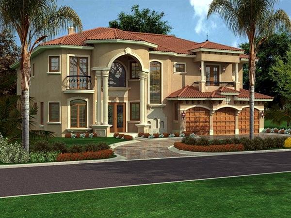 Florida House Plan 55788 Elevation