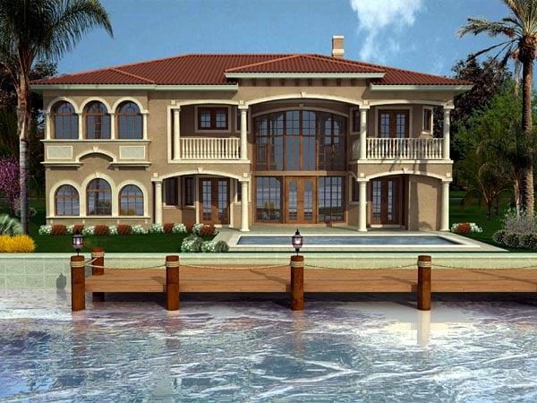 Florida House Plan 55788 Rear Elevation