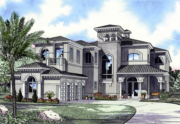 Florida House Plan 55791 Elevation