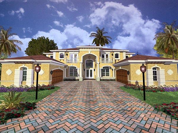 Mediterranean House Plan 55904 Elevation