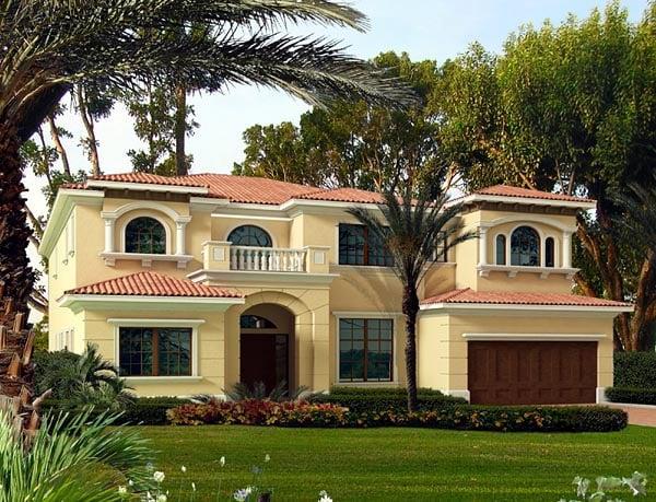 Mediterranean House Plan 55905 Elevation