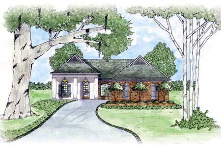 House Plan 56068 Elevation