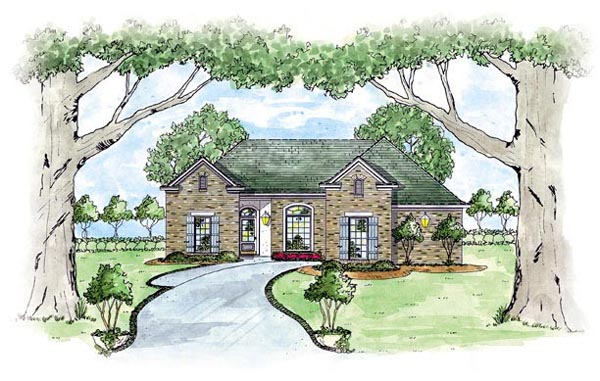 Traditional House Plan 56071 Elevation