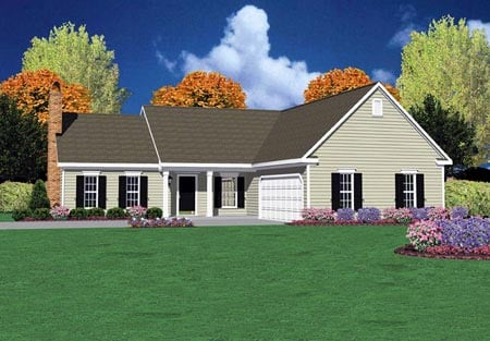 Ranch House Plan 56077 Elevation