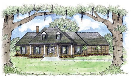 Colonial House Plan 56251 Elevation