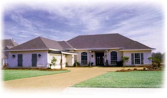 One-Story, Traditional House Plan 56264 with 4 Beds, 3 Baths, 2 Car Garage Elevation