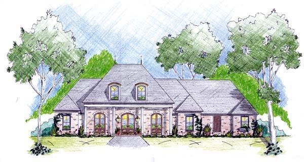 House Plan 56269 Elevation