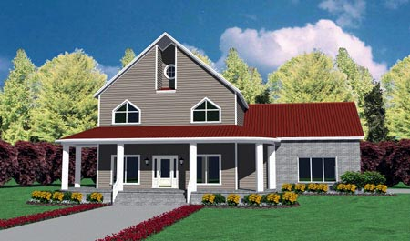 Traditional House Plan 56276 Elevation