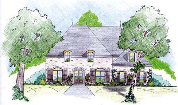 House Plan 56287 with 3 Beds, 2 Baths, 2 Car Garage Elevation
