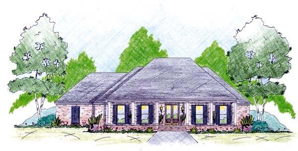 House Plan 56288 Elevation