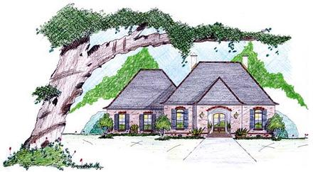 One-Story House Plan 56343 with 3 Beds, 3 Baths, 2 Car Garage