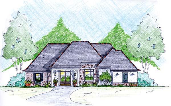 House Plan 56345 Elevation
