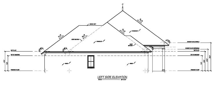 One-Story House Plan 56346 with 4 Beds, 4 Baths, 2 Car Garage Picture 1