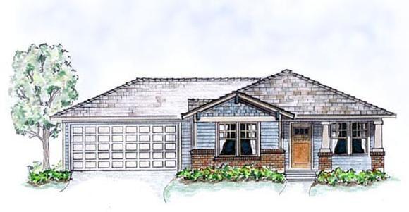 Bungalow, Craftsman House Plan 56503 with 3 Beds, 2 Baths, 2 Car Garage Elevation