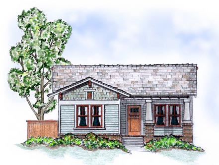 Bungalow Craftsman House Plan 56504 Elevation