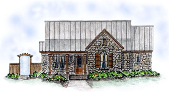 Bungalow House Plan 56505 with 3 Beds, 3 Baths, 2 Car Garage Elevation