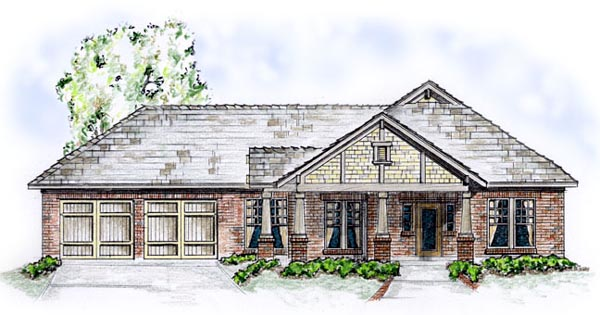 Traditional House Plan 56516 Elevation