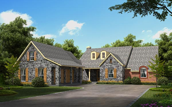 European House Plan 56523