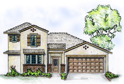 Mediterranean Southwest House Plan 56527 Elevation