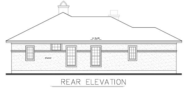 Florida Mediterranean Southwest House Plan 56530 Rear Elevation