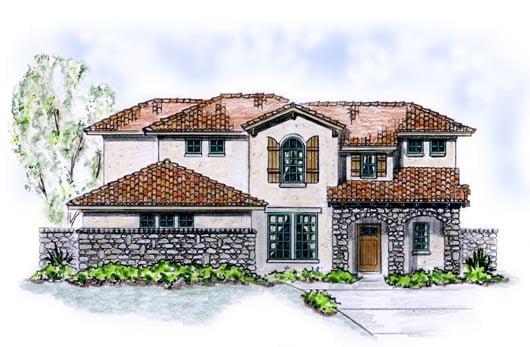 Florida Mediterranean House Plan 56535 Elevation