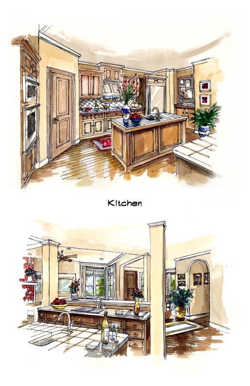 Florida, Mediterranean, One-Story House Plan 56537 with 3 Beds, 2 Baths, 3 Car Garage Picture 4