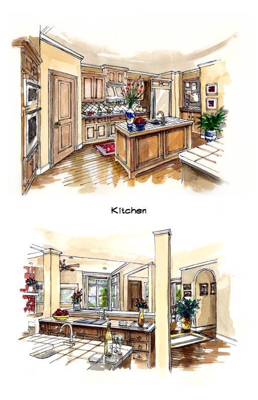 Mediterranean Southwest House Plan 56540