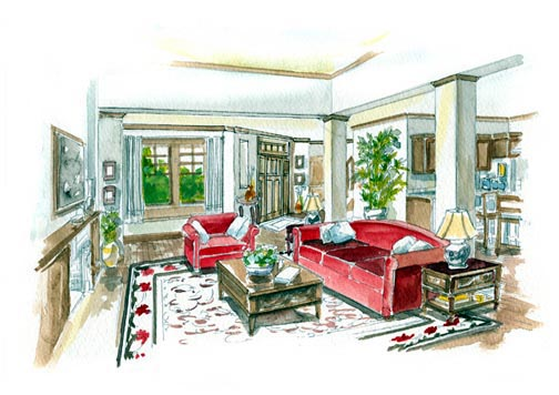 Craftsman, European House Plan 56542 with 4 Beds, 4 Baths, 2 Car Garage Picture 1
