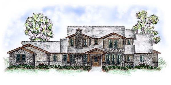 European Traditional House Plan 56547 Elevation