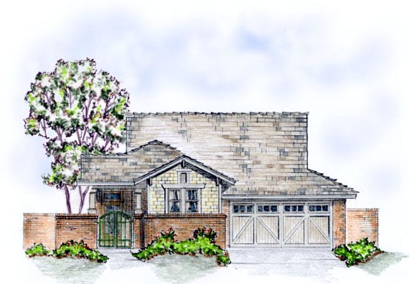 House Plan 56555 Elevation