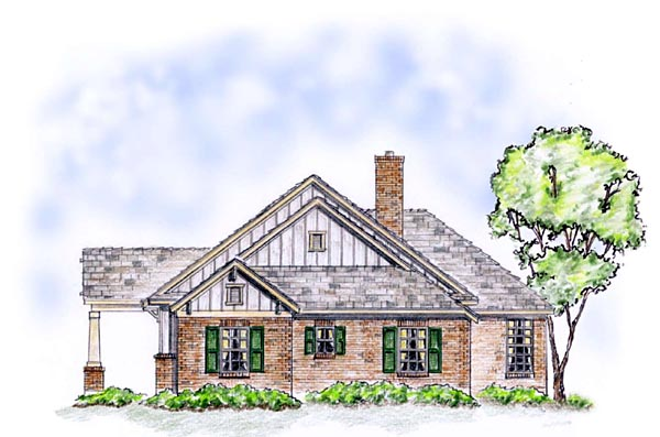 Craftsman, Traditional House Plan 56563 with 3 Beds, 2 Baths, 2 Car Garage Picture 2